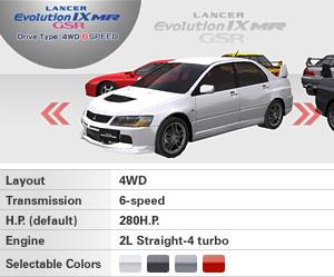 [Lancer Evolution IX MR (CT9A)]