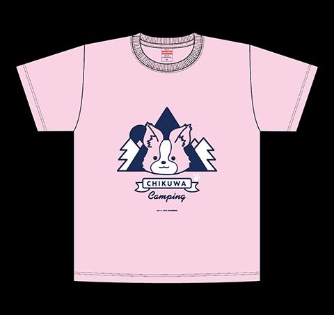 ちくわキャンプTシャツ/ピンク