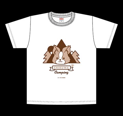ちくわキャンプTシャツ/ホワイト